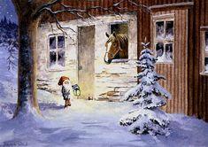 Christmas Scenes, Christmas Mood, Christmas Gnome, Merry Christmas, Winter Illustration, Christmas Illustration, Scandinavian Gnomes, Scandinavian Christmas, Troll