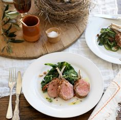 Lamb Racks with Spinach, Sultanas & Pine Nuts Recipe - Best Home Chef