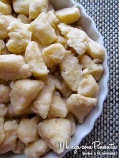 Gnocchi di Patate ou Nhoque de Batata para fazer no Dia das Mães, para ver a receita, clique na imagem para ir ao Manga com Pimenta.