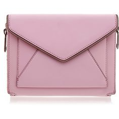 Rebecca Minkoff Dusty Pink Marlowe Mini Envelope Clutch ($125) ❤ liked on Polyvore featuring bags, handbags, clutches, purses, accessories, bolsas, pink, rebecca minkoff purse, rebecca minkoff handbags and mini purse