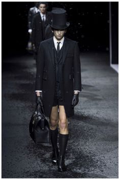 THOM BROWNE FALL/WINTER 2015 MENSWEAR COLLECTION: FUNERAL CHIC