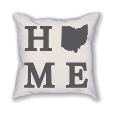 The Ohio Home State Pillow is an pillow showing off the place you call home! The pillow is already stuffed and ready to be displayed in your home. Camping In England, Camping In Ohio, Yosemite Camping, Yellowstone Camping, Camping World, Camping Cabins, Camping Gear, Cleveland Ohio, Columbus Ohio