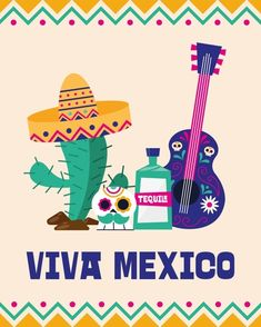 Mexico Cactus, Guitar Design, Tequila, Illustration, Culture, Independence Day, Skull, Stock Photos, Fictional Characters