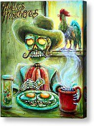 Huevos Rancheros Canvas Print by Heather Calderon