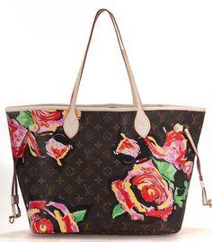 Louis Vuitton neverfull roses