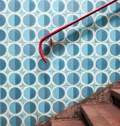 Anjos Metro Lisbon. Tile by Maria Keil. Photo: Heather Moore