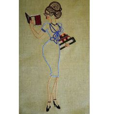 Love this #embroidery #librarian