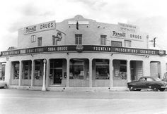 Miami Springs Rexall Drug Store on the Circle in M… Florida Keys, South Florida, Wall Drug, Miami Springs, Postcard Wall, Magic City, Historical Landmarks, Soda Fountain, Going Out Of Business