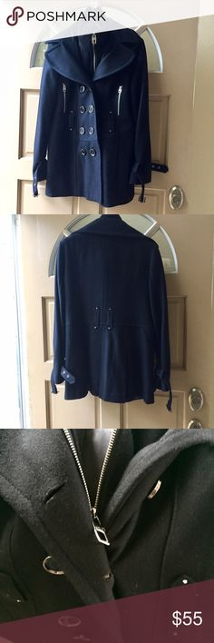Miss sixty black pea coat Great condition! Recently dry cleaned and remained in wrapping. Length is 32' bust is 17' No trades. Miss Sixty Jackets & Coats Pea Coats