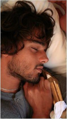 Landon Lucas Maxfield asleep in the pantry in Easy and Breakable by Tammara Webber (Marlon Teixeira)