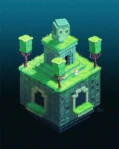 Owls are creepy From FEZ game , by etall tumblr