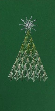 Christmas tree string art - inspiration