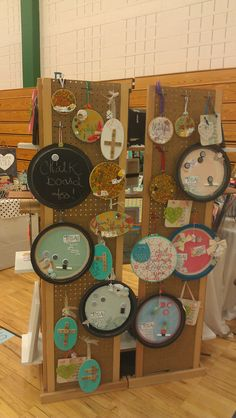 Back of display made using my shutter stands and shelving - upcycled craft fair booth display idea