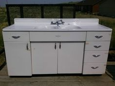 Vintage Kitchen Sink Cabinet steel kitchen cabinets - history, design and faq | sinks, kitchens