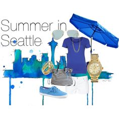 """Summer in Seattle"" by pmcdl on Polyvore"