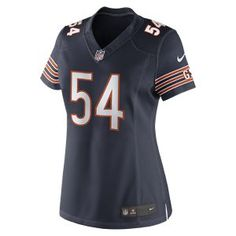 NFL Chicago Bears (Brian Urlacher) Women's Football Home Limited Jersey