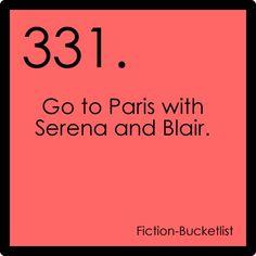 Gossip Girl {fictional bucket list}