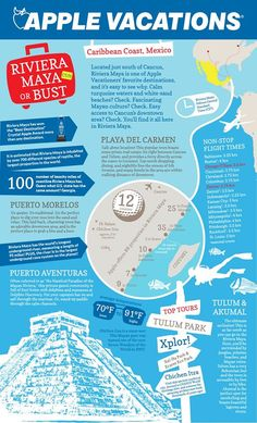 Learn a thing or two about Riviera Maya, Mexico! Apple Vacations click image to find a travel advisor near you Travel Advisor, Trip Advisor, Apple Vacations, Turquoise Water, White Sand Beach, Riviera Maya, Caribbean, Mexico, Image