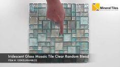 Iridescent Glass Mosaic Tile Clear Random Blend - 120KELURANBL22 http://www.mineraltiles.com/iridescent-glass-mosaic-tile-clear-random-blend/