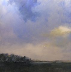 """Charles Emery Ross  """"A Prussian Blue Kind of Day"""", 40 x 40"""", mm/c"""