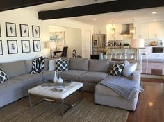 Living room after! Ranch renovation! Love this space!!