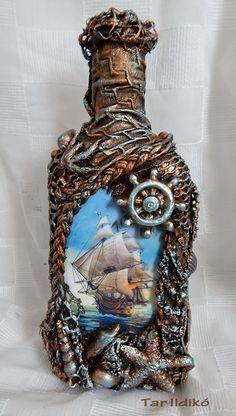 1 million+ Stunning Free Images to Use Anywhere Glass Bottle Crafts, Wine Bottle Art, Diy Bottle, Whiskey Bottle, Bottles And Jars, Glass Bottles, Glass Vase, Jar Art, Altered Bottles