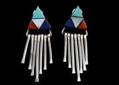 Southwestern Jewels! Sterling silver earrings. #EBTH #jewelry
