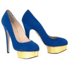 Pre-owned Charlotte Olympia Dolly Pump Cobalt Platforms ($539) ❤ liked on Polyvore featuring shoes, pumps, cobalt, charlotte olympia, charlotte olympia shoes, charlotte olympia pumps, platform shoes and pre owned shoes