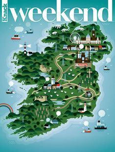 Map of Ireland Weekend magazine 3
