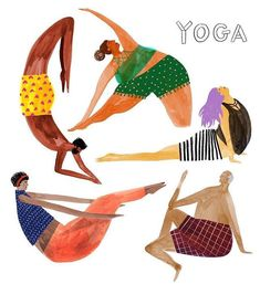 Katie Vernon on Anyone can do yoga. Therefore I can do yoga. - Katie Vernon on Anyone can do yoga. Therefore I can do yoga. Heres to ing through with - Yoga Meditation, Kundalini Yoga, Yoga Inspiration, Yoga Kunst, Lilla Rogers, Yoga Illustration, Yoga For All, Yoga Logo, Yoga School
