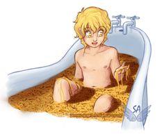 Happy bday jace! Want a spaghetti bath? Spaghetti Bath by Street-Angel.deviantart.com on @deviantART