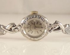 LABOR Day Sale Now~14k/Diamond Ladies Hamilton Vintage Watch