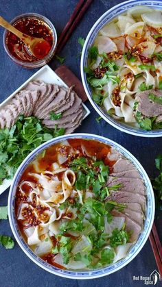Lanzhou beef noodle soup, home version (兰州牛肉面) | Red House Spice