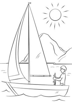 Have a Great Summer Coloring Page - Free Coloring Pages Online Coloring Pages Nature, Summer Coloring Pages, Easy Coloring Pages, Free Printable Coloring Pages, Coloring Books, Coloring For Kids, Easy Drawings For Kids, Colorful Drawings, Drawing For Kids