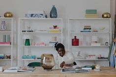 Creative entrepreneur Abisola Omole reveals her bright east London studio