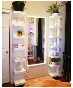 Room Design Bedroom, Room Ideas Bedroom, Home Room Design, Bedroom Decor For Teen Girls, Teen Room Decor, Beauty Room Decor, Beauty Salon Decor Treatment Rooms, Makeup Room Decor, Makeup Rooms