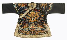 Embroidered Dragon Robe, China, Late 19th Century