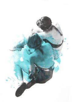 Siebdruck - MEER FREUNDIN Siebdruck Collage A3 Poster Frauen - ein Designerstück von Morkebla bei DaWanda