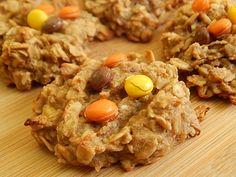Peanut butter banana oatmeal cookies - 1 WW pt.