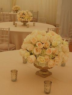 Over 70 Truly Amazing Wedding Reception Ideas - MODwedding Reception Table Decorations, Wedding Table Centerpieces, Wedding Reception Decorations, Floral Centerpieces, Flower Arrangements, Reception Ideas, Wedding Receptions, White Wedding Flowers, Floral Wedding