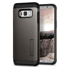 Spigen Tough Armor Galaxy Case with Reinforced Kickstand and Heavy Duty  Protection and Air Cushion Technology for Samsung Galaxy - Gunmetal 0e6683f568d