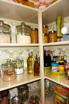 Amber Lane Living: Pantry Redo, with Mod Podged Fabric Contact Paper
