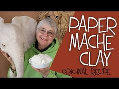 This is the famous recipe that takes all the mess and frustration out of paper m .This is the famous recipe that takes all the mess and frustration out of paper mache. Paper Mache Paste, Paper Mache Clay, Paper Mache Sculpture, Mascara Papel Mache, Diy Paper, Paper Crafts, Paper Mache Crafts For Kids, Paper Art, Paper Mache Projects