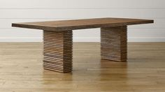 12 New Takes On The Classic Farmhouse Table: Crate & Barrel Paloma II Reclaimed Wood Dining Table