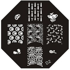 QINF Nail Art Stamp Stamping Image Template Plate D Series NO.2 -- Find out more about the great product at the image link.