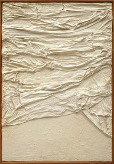 Piero Manzoni, Achrome, 1958-59, Fabric and gesso on canvas, 70.5 x 50.2 cm,arttattler.com ArtExperienceNYC www.artexperiencenyc.com