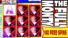 THE FULL MONTY   ALL 140 FREE SPINS BONUS   MISSED OPPORTUNITIES #lasvegas #vegas #casino #slots #win #winning #winner