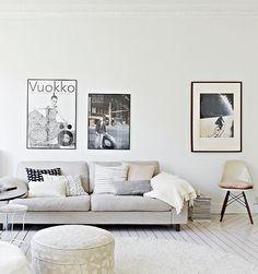 White on White decor | Fiberglass Shell Chair on Dowel Base | http://modernica.net/dowel-side-shell.html