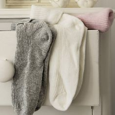 Who doesn't need cashmere bed socks?
