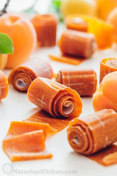 The kids go crazy for this apricot fruit leather! Easy, tastes way better than storebought and only TWO INGREDIENTS! How to make fruit leather natashaskitchen com is part of Apricot fruit - Fruit Snacks, Fruit Recipes, Baby Food Recipes, Snack Recipes, Kid Snacks, Fruit Fruit, Healthy Snacks, Kid Lunches, School Lunches